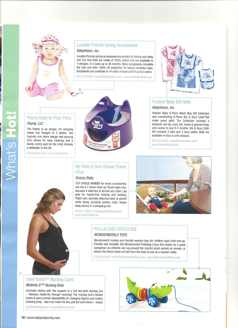 Snazzy Baby Travel Chair on Creative Child Magazine