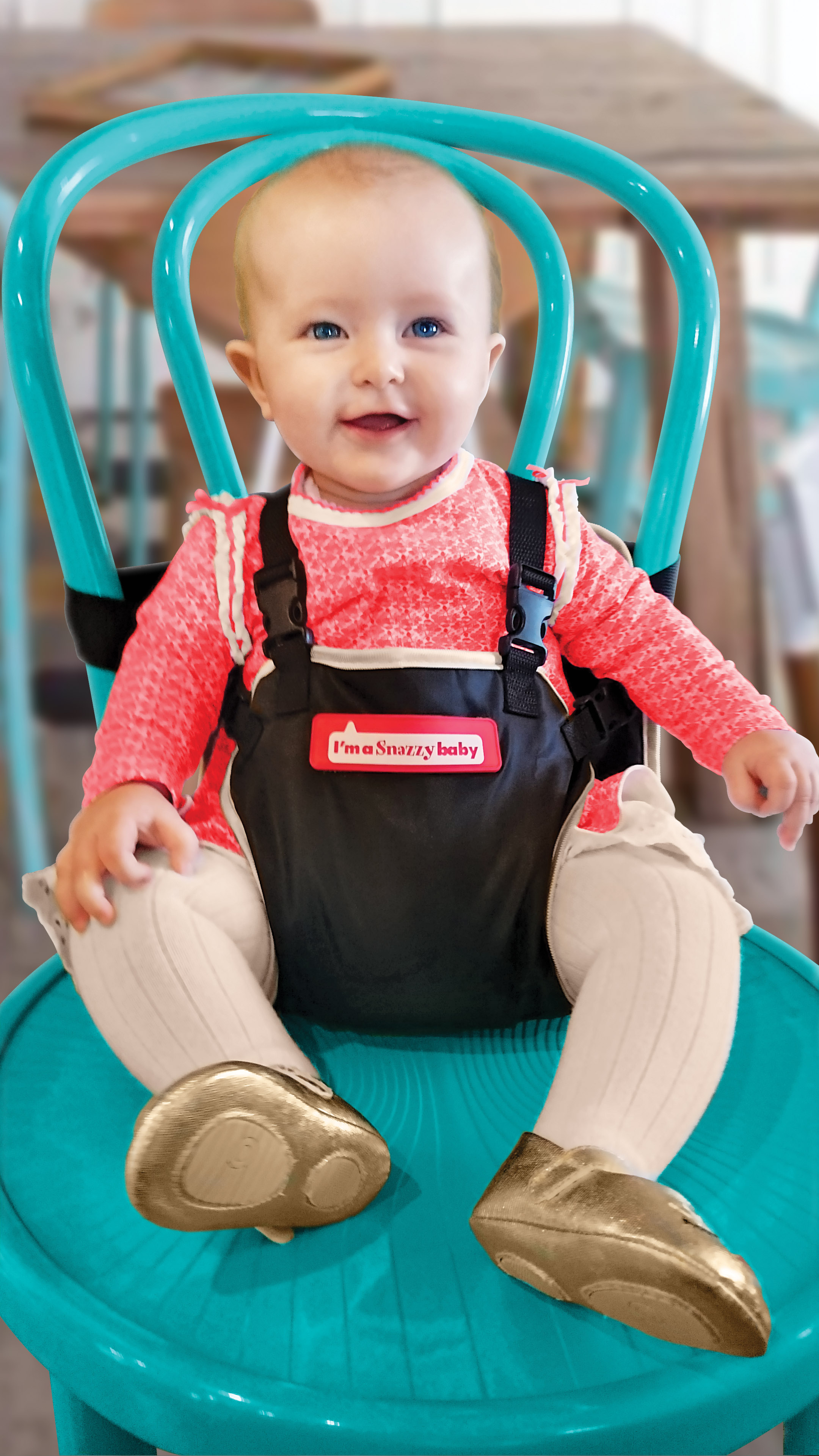 award winning my baby's own deluxe travel chair - snazzy baby